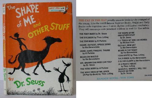 The Shape of Me and Other Stuff. Dr. Seuss.