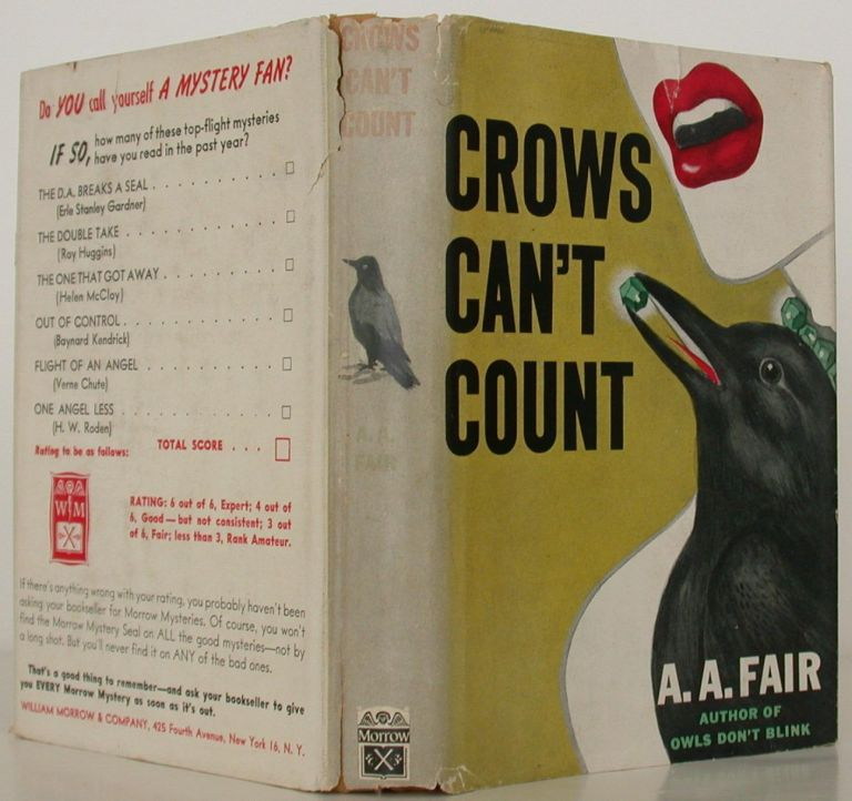 Crows Can't Count. Erle Stanley Gardner, as A. A. Fair.