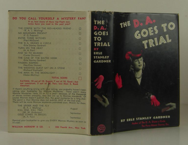 The D.A. Goes to Trial. Erle Stanley Gardner.