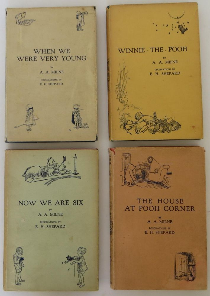 When We Were Very Young, Winnie-the-Pooh, The House at Pooh Corner and Now We Are Six. A. A. Milne, Ernest Shepard.