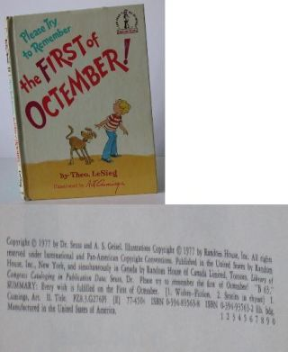 Please Try to Remember the First of Octember! Theo Lesieg, Seuss Dr., Art Cumings, Art Cummings,...