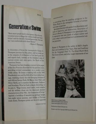 Generation of Swine: Tales of Shame and Degradation in the 80's