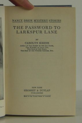 Nancy Drew The Password of Larkspur Lane