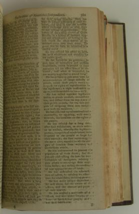 The Declaration of Independence in The Gentleman's Magazine, 1776