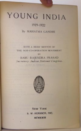 Young India by Mahat'ma Gandhi, two volumes
