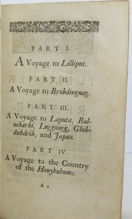 Travels into Several Remote Nations of the World by Lemuel Gulliver, Gulliver's Travels